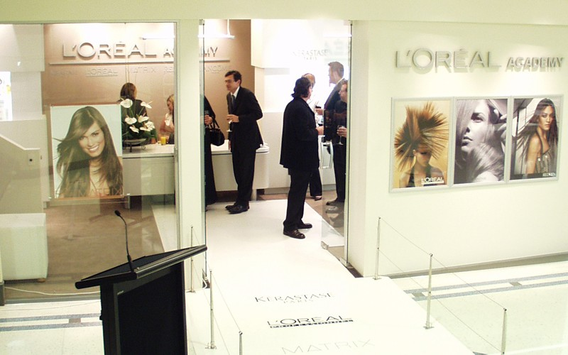 L'Oreal Academy opening