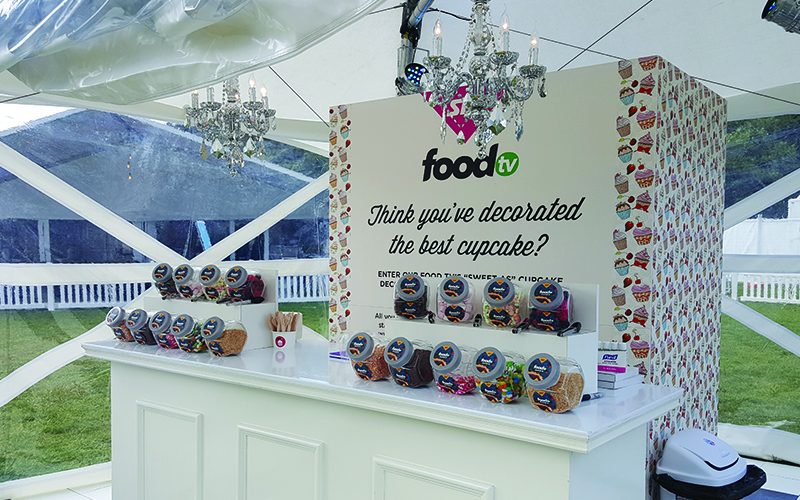 Sky Food TV Cupcake Station